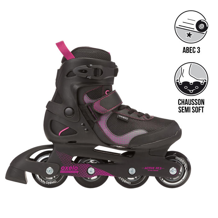 Fit 3 Women's Fitness Inline Skates - Black/Fuchsia - 467185
