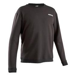 成人款足球訓練運動衫T100-黑色