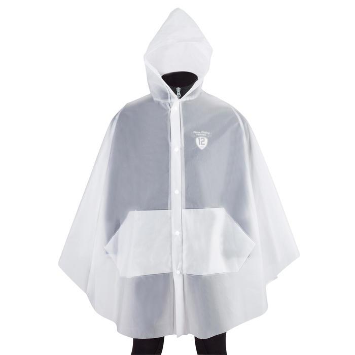 Regenponcho voor volwassenen ruitersport transparant