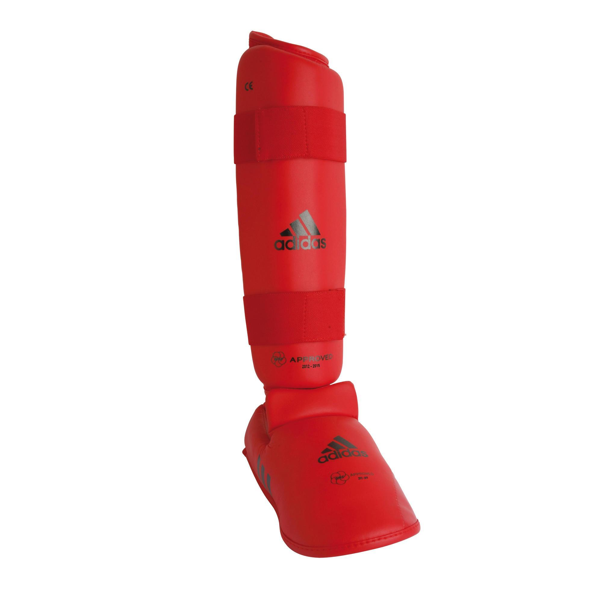 Adidas prot ge tibia et pied de karat rouge decathlon - Protege tibia decathlon ...