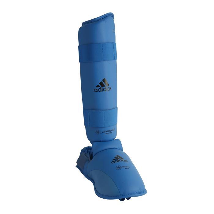 Scheen- en voetbeschermers voor karate blauw