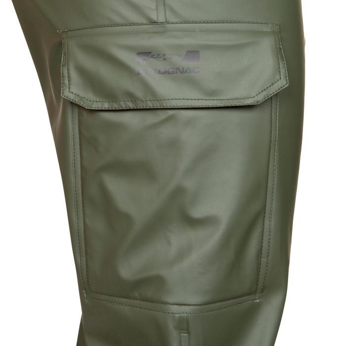 Pantalón Caza Solognac Glenarm 300 Impermeable Verde