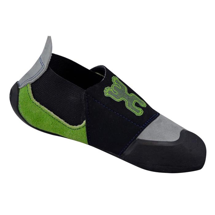 KID'S ROCK CLIMBING SHOES GREY GREEN