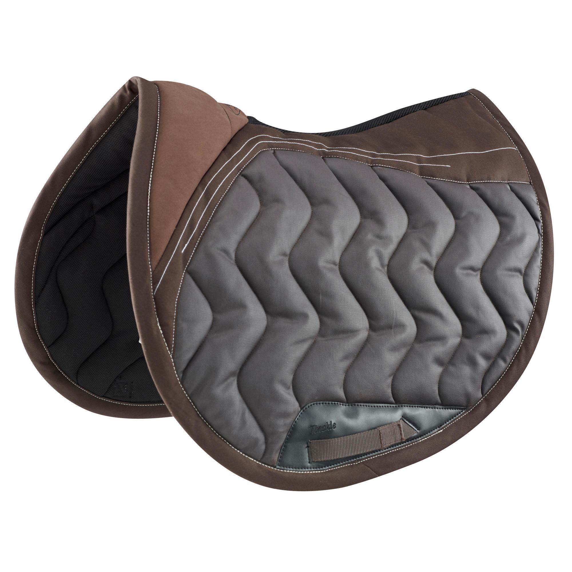 tapis de selle quitation cheval tinckle marron fouganza. Black Bedroom Furniture Sets. Home Design Ideas