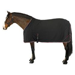 Microvezel zweetdeken ruitersport pony en paard zwart