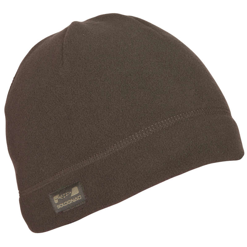 WARM GLOVES/BEENIES/HOODS Shooting and Hunting - 100 Wenge Hat Brown SOLOGNAC - Hunting and Shooting Clothing