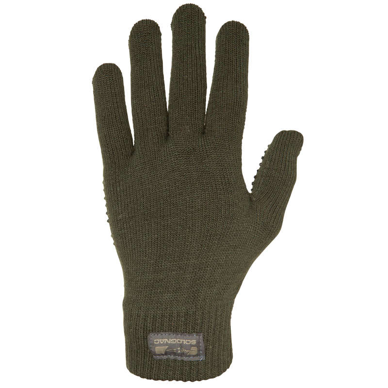 WARM GLOVES/BEENIES/HOODS Shooting and Hunting - 100 GLOVES SOLOGNAC - Hunting and Shooting Clothing