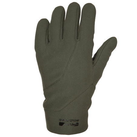 Gants chasse 500 coquille souple verts