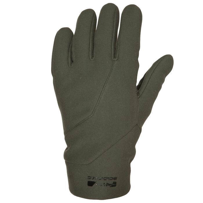 Gants chasse 500 Softshell vert - 474492