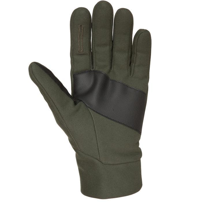 Handschoenen voor de jacht 500 softshell groen