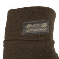 Fleece hunting gloves 300 - brown