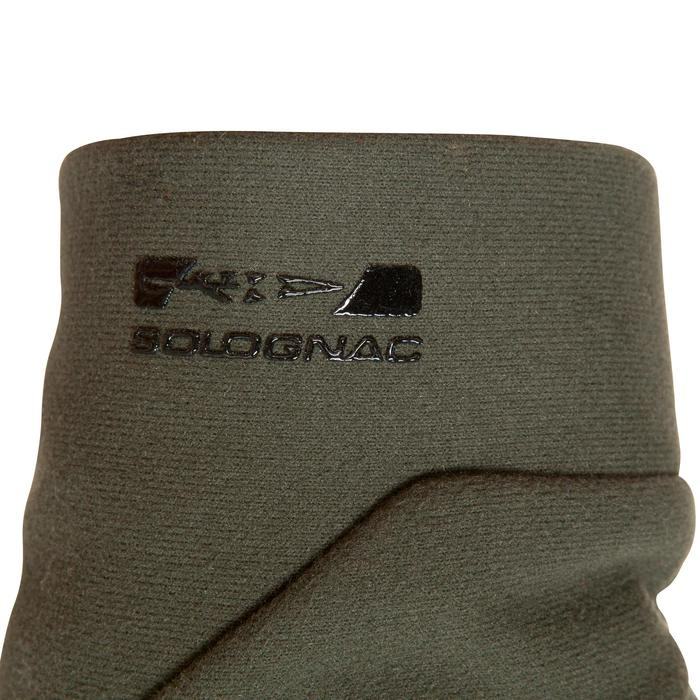 Guantes Caza Solognac 500 Softshell Calido Verde