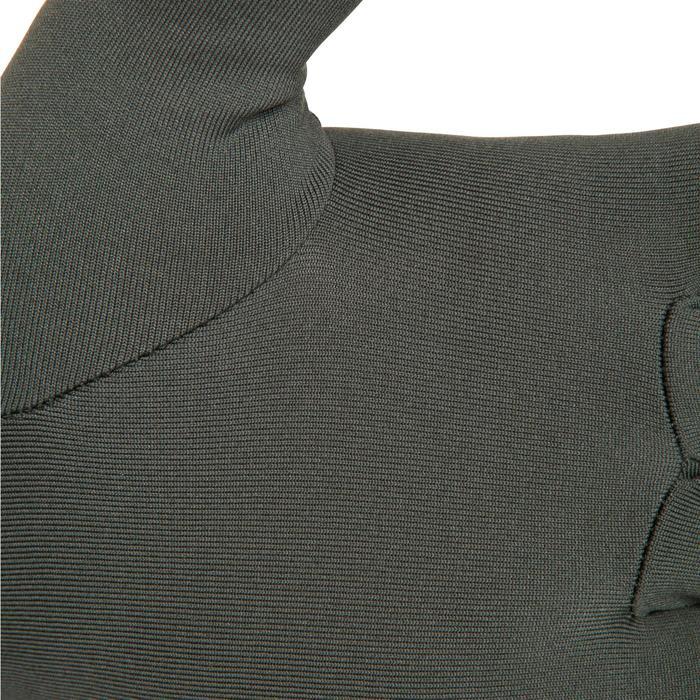 Onderhandschoenen 100 voor de jacht olijfgroen/zwart