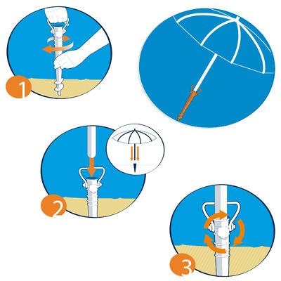 Soporte roscado palo Parasol PARUV Naranja
