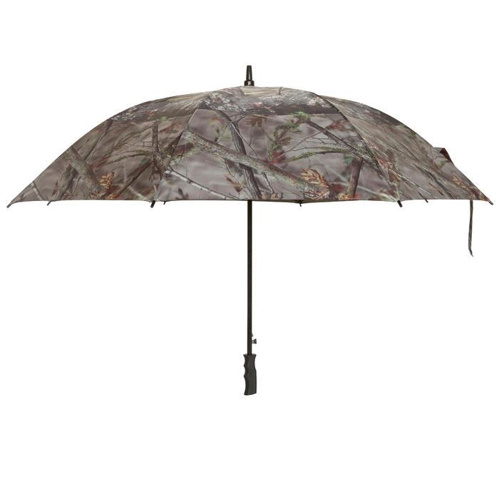 Paraguas de caza camuflaje marrón