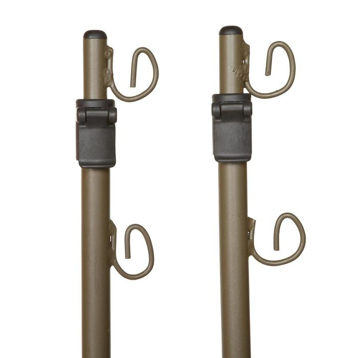 Piquetas Caza Solognac Telescópicas Modulables 130-195 cm Acero Verde x2
