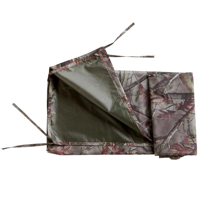 Camouflagezeil voor de jacht bruin 145 x 220