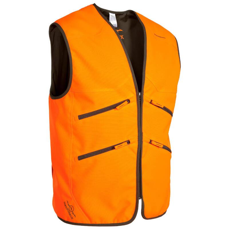 REFLEXNÍ OBLEČENÍ NA HON A NAHÁŇKU Myslivost a lovectví - VESTA SUPERTRACK 500 FLUO  SOLOGNAC - Myslivecké oblečení