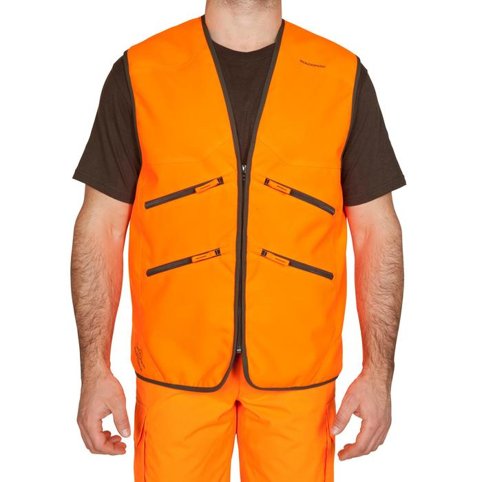 Gilet chasse Supertrack 500 fluo