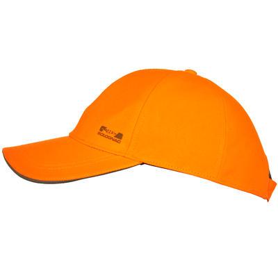 Gorra Caza Solognac Supertrack 500 Antidesgarros Naranja Fluo