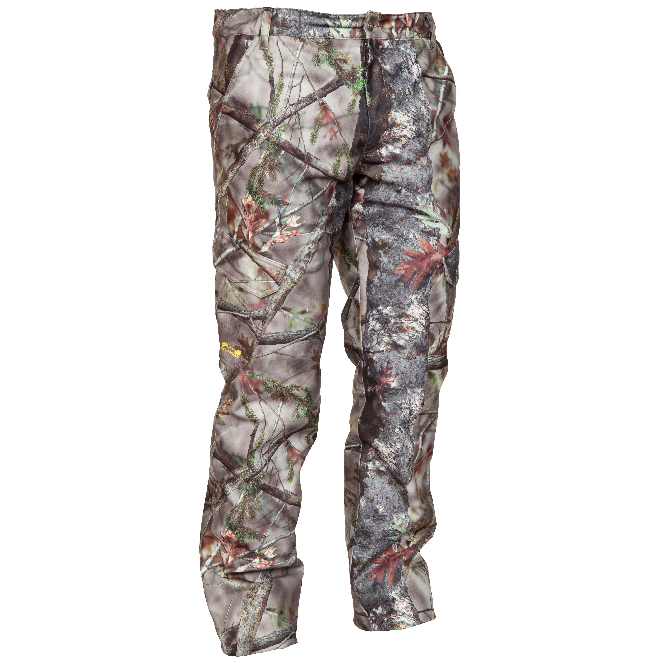 POSIKAM 300 WATERPROOF HUNTING PANTS - CAMOUFLAGE BROWN