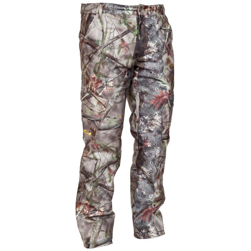 Hunting Warm Waterproof Trousers 520 - Camouflage Brown