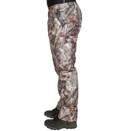 WARM WATERPROOF PANTS 520 CAMOUFLAGE BROWN