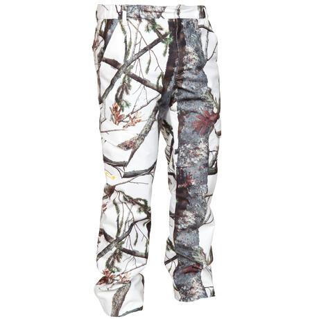 Posikam 300 Waterproof Hunting Trousers Snow Camouflage