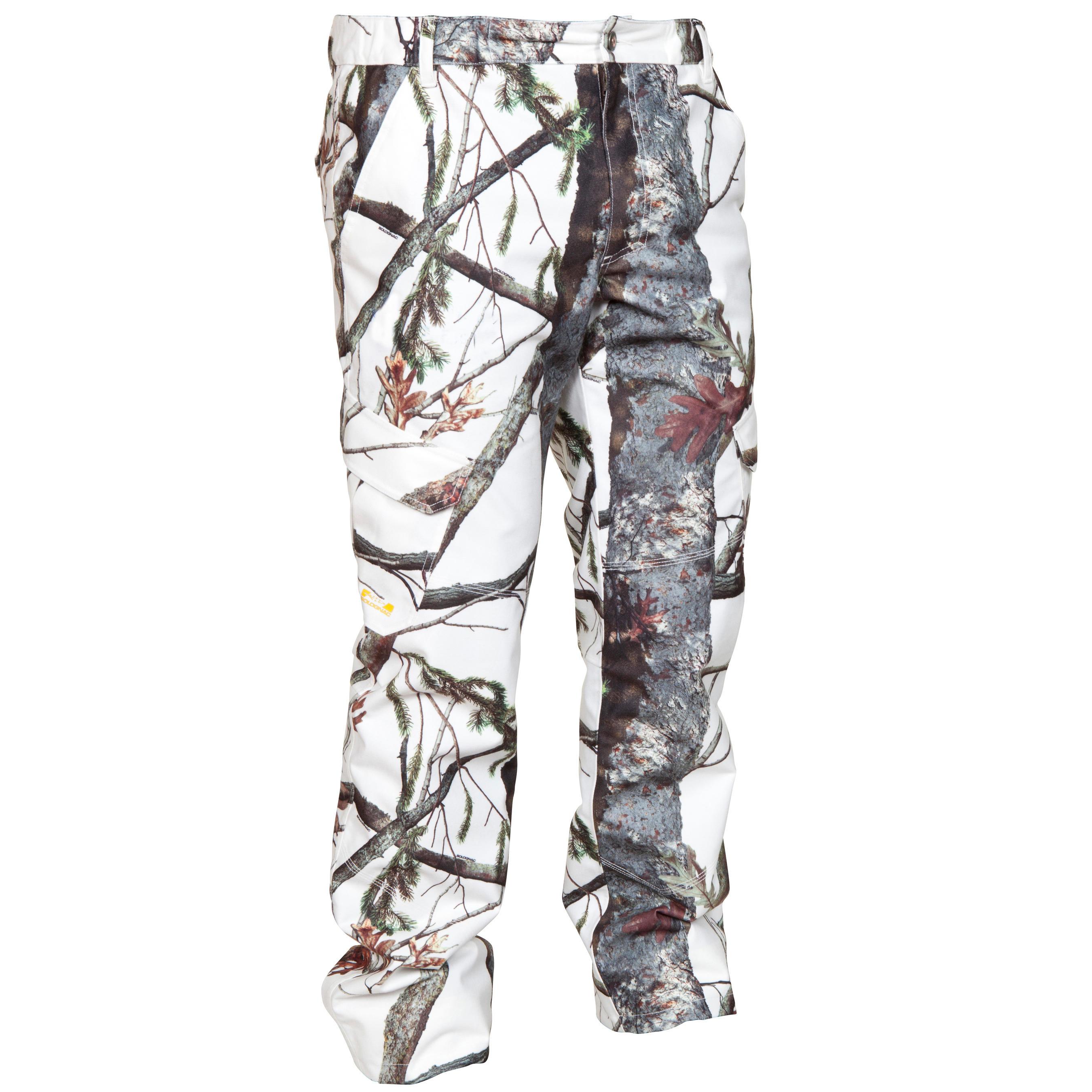 Pantalon impermÉable chaud 520 camouflage neige solognac