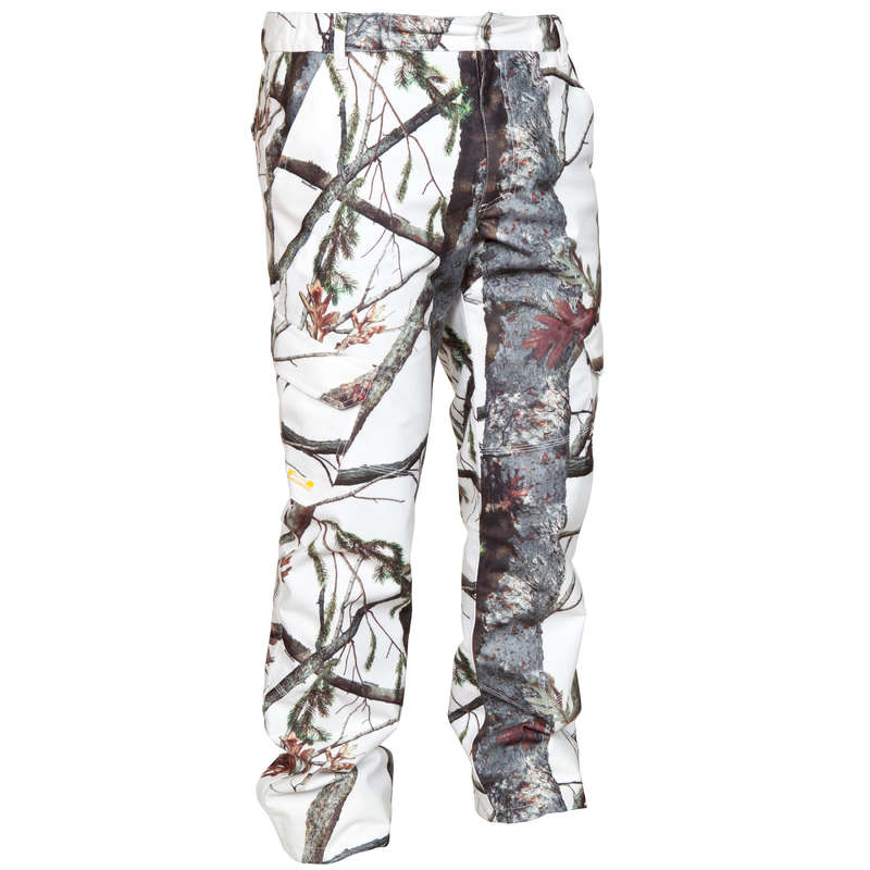 POSTED CAMOUFLAGE CLOTHING Shooting and Hunting - POSIKAM 300 Waterproof Snow Camo Trousers SOLOGNAC - Hunting Types