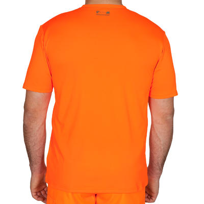 T-SHIRT CHASSE RESPIRANT 300 ORANGE FLUO
