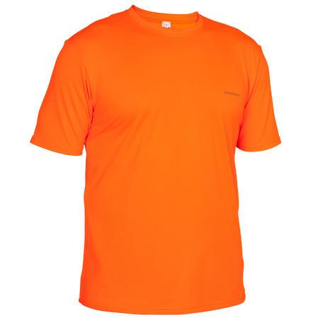 Camiseta para Hombre Solognac 300 Transpirable Naranja Fluo