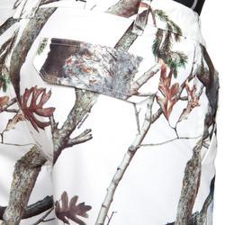 Warme en waterdichte camouflagebroek voor de jacht 520 sneeuwcamouflage