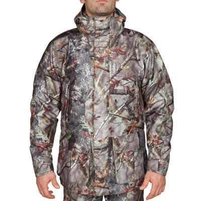 Куртка-парка Posikam 300 для полювання, водонепроникна - Камуфляж коричневий