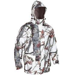 防水狩獵連帽外套POSIKAM 300-雪地迷彩