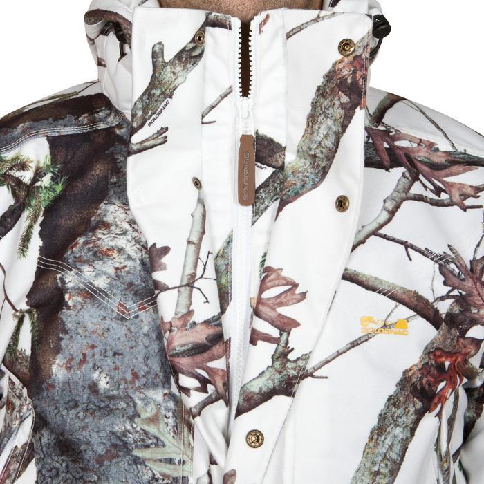 Jagd-Regenjacke Posikam 300 Camouflage weiß