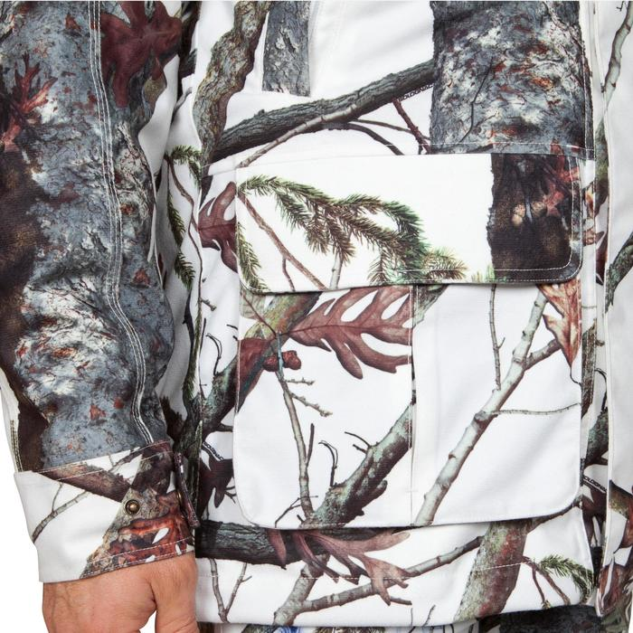VESTE CHASSE IMPERMEABLE POSIKAM 300 CAMOUFLAGE NEIGE