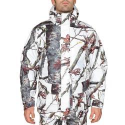 3合1狩獵防水保暖連帽外套300-雪地迷彩