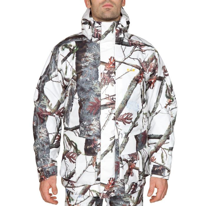 WARM 3-IN-1 WATERPROOF HUNTING PARKA 300 SNOW CAMOUFLAGE