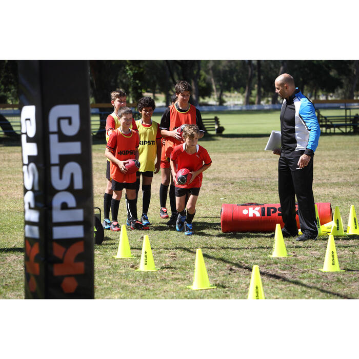 Crampons rugby enfant terrains secs Attraction 300 FG scratch noir jaune