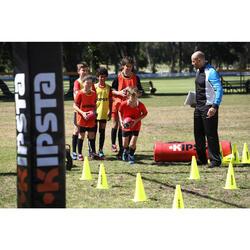 Rugbyschoenen Skill 500 FG voor droog terrein kinderen zwart wit