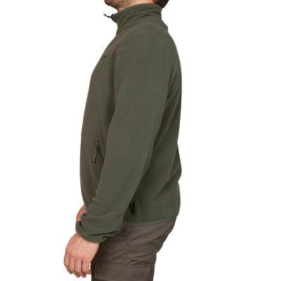 Saco Polar Hombre Solognac 100 Calido Verde