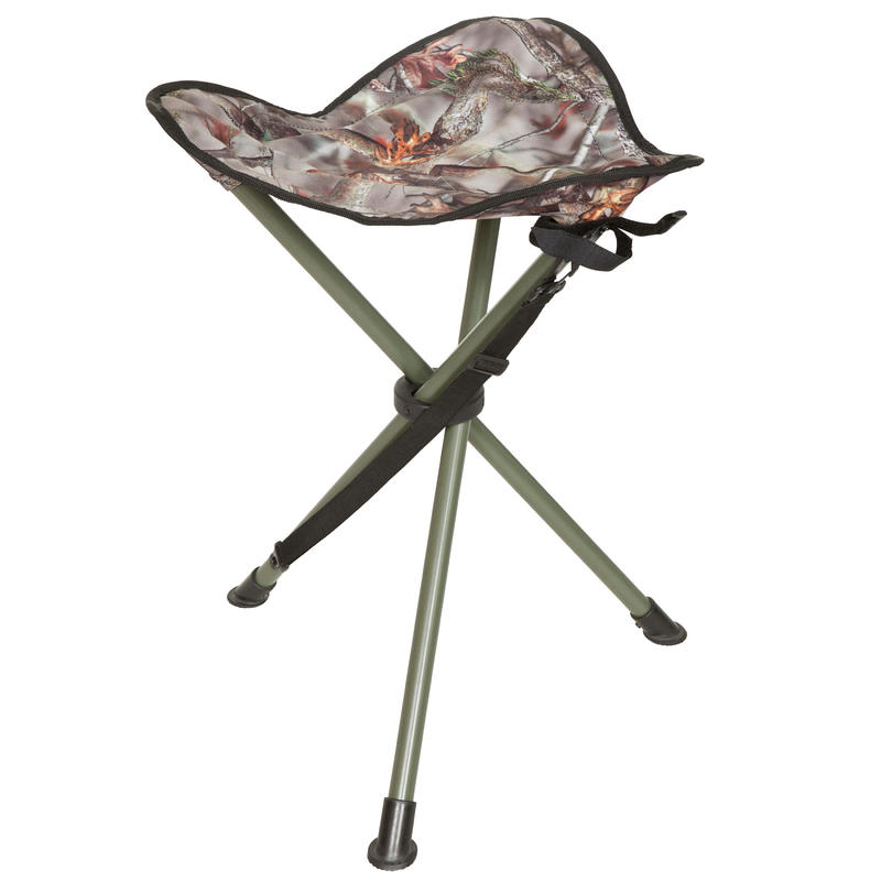 Hunting Tripod Stool - Camouflage Brown