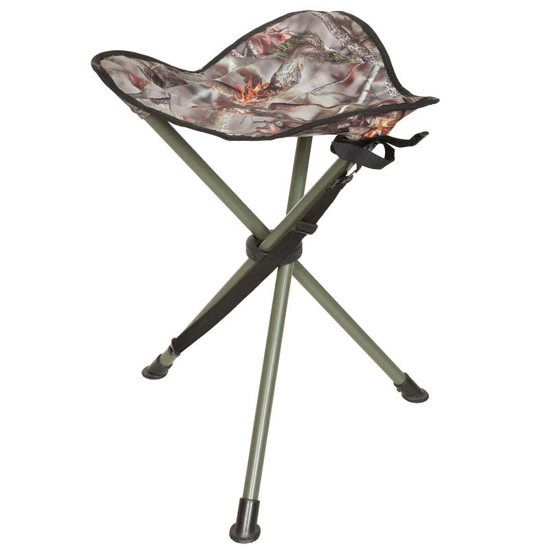 STOOLS/SEATS Shooting and Hunting - 100 stainless steel tripod SOLOGNAC - Hunting and Shooting Accessories