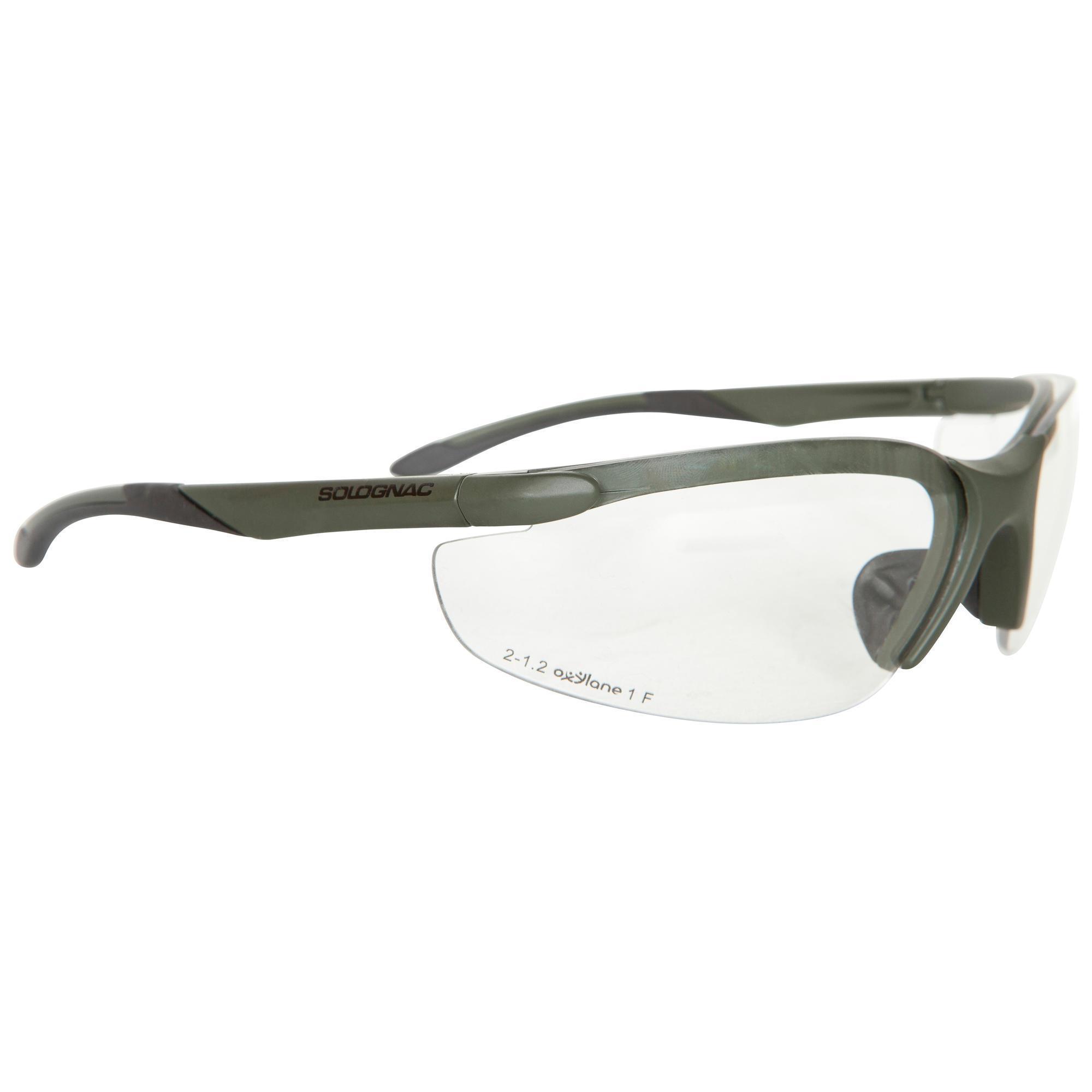 lunettes chasse protection neutre vert solognac. Black Bedroom Furniture Sets. Home Design Ideas