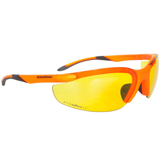 Schietbril voor de jacht getint/fluo - 475938
