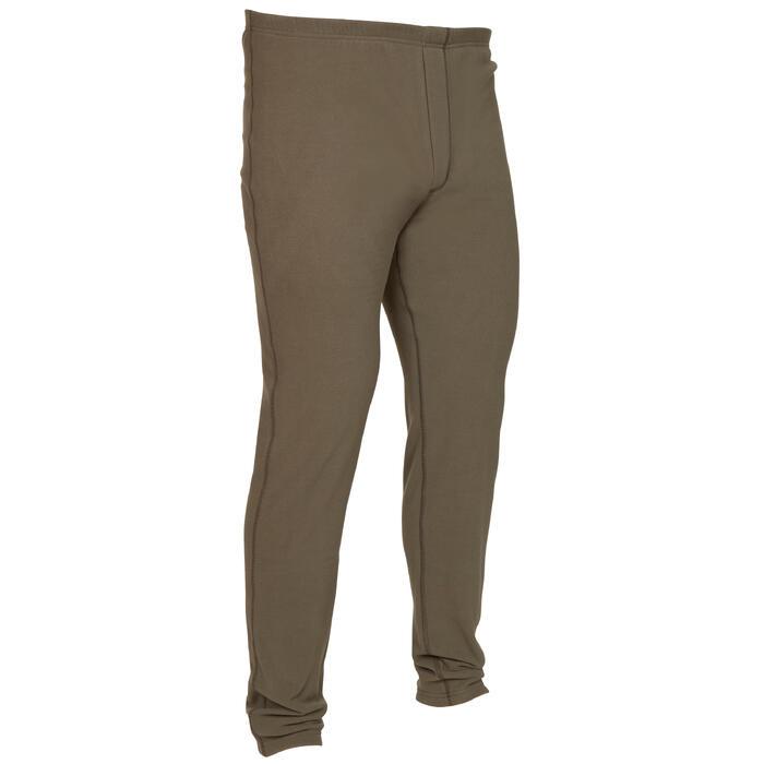 Fleece broek voor de jacht 100 groen