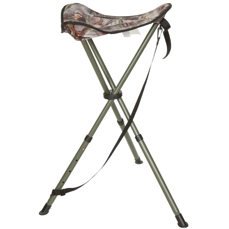 STOOLS/SEATS Shooting and Hunting - 100 adjust. stain.steel tripod SOLOGNAC - Hunting and Shooting Accessories