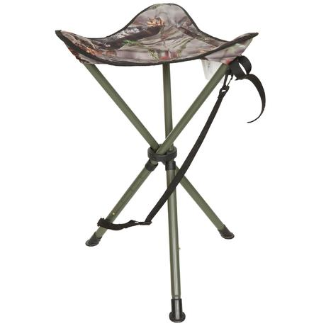 Telescopic Hunting Tripod Stool Camouflage Brown Solognac