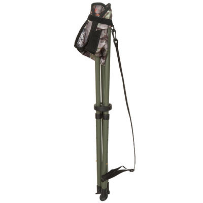 Telescopic hunting tripod camouflage brown